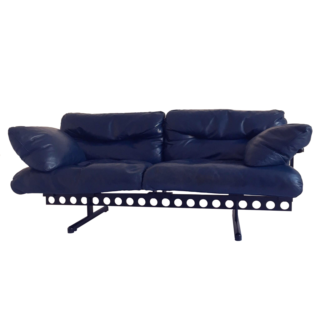 """OUVERTURE"" LEATHER LOUNGE SOFA BY PIERLUIGI CERRI MANUFACTURED BY POLTRONA  FRAU"
